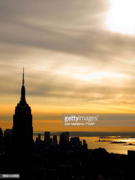 Sunset at new york empire state building