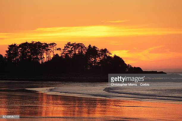 Sunset at North Beach or Agate Beach in Naikoon Provincial Park on Graham Island