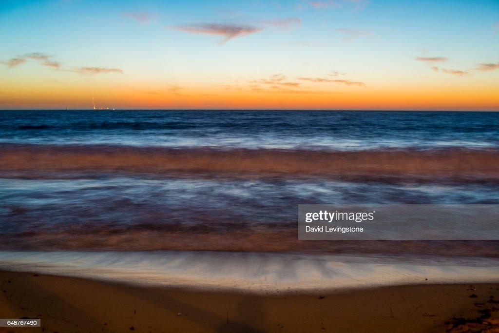 Sunset at North Beach, Perth, Western Australia : Stock Photo