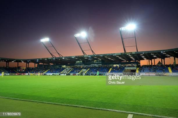 October 26: Sunset at NV Arena during the tipico Bundesliga match between Spusu SKN Sankt Poelten and SK Puntigamer Sturm Graz at NV Arena on October...