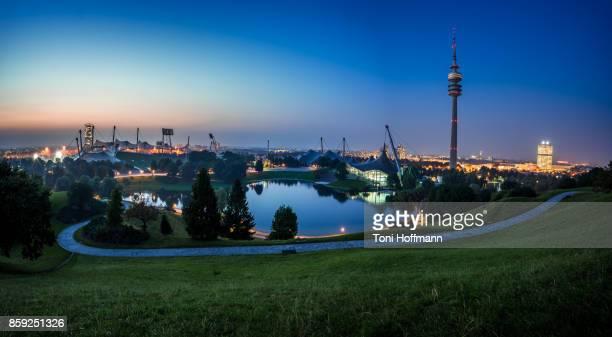 Sunset at Olympiapark Munich