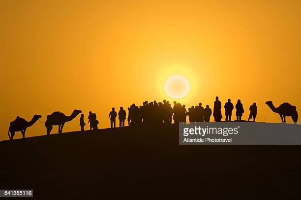sunset at onk jemal, desert location of star wars movies - star wars stock pictures, royalty-free photos & images