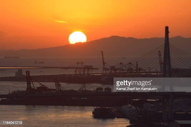 Sunset at Osaka city