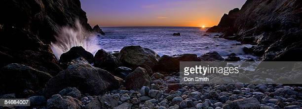 sunset at partington cove - don smith stock pictures, royalty-free photos & images