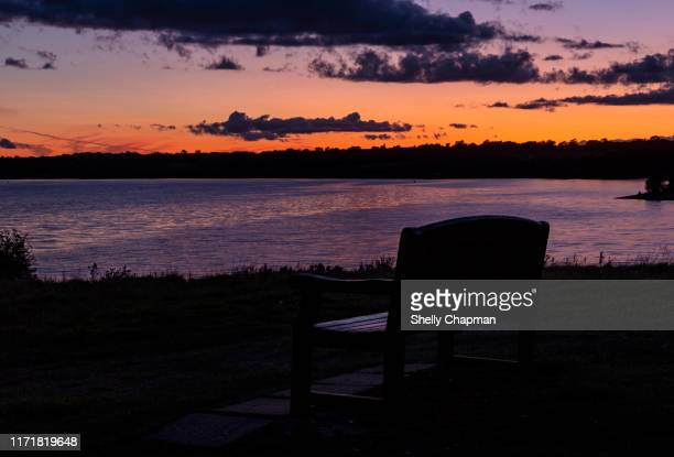 sunset at pitsford reservoir - northamptonshire stock pictures, royalty-free photos & images