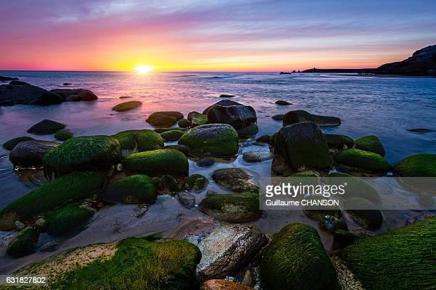 Sunset at Port Bara, Peninsula of Quiberon, Brittany, France