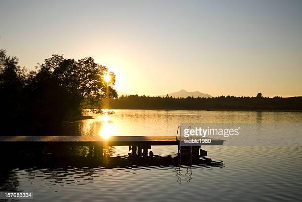 """Sonnenuntergang in """"Bannwaldsee"""" Deutschland"""