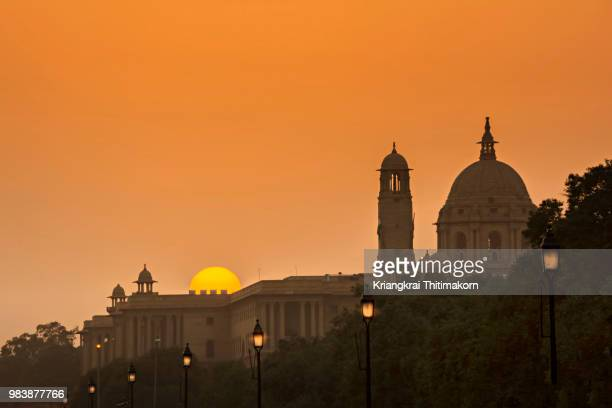 Sunset at Rashtrapati Bhavan, Delhi, India