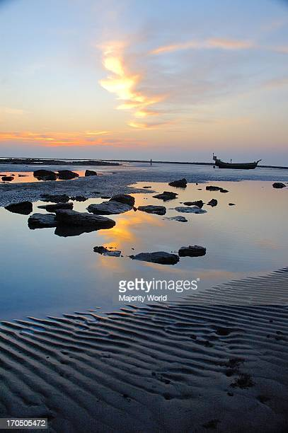 Sunset at Saint Martins Island at Teknaf in Coxs Bazar It is the only coral island of Bangladesh and one of the famous tourist destinations of the...