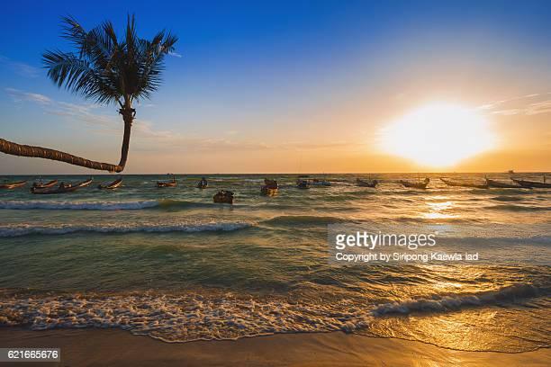 Sunset at Sairee beach, Koh Tao, Thailand