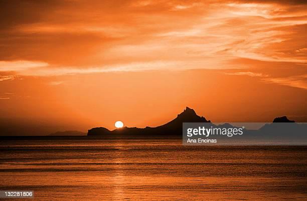 sunset at san carlos, mexico - サンカルロス ストックフォトと画像