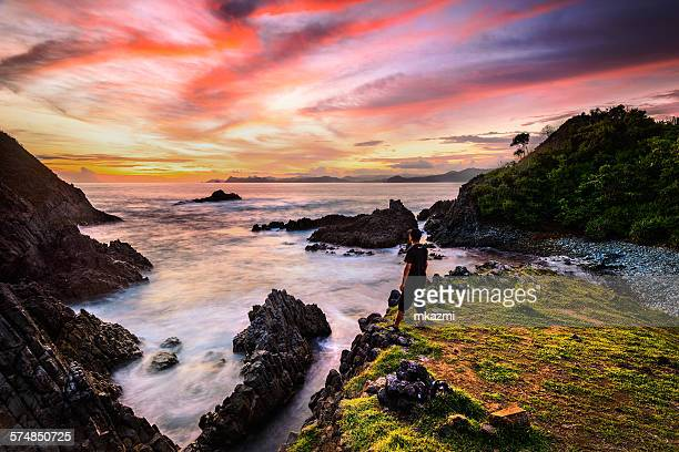 Sunset at semeti beach, Lombok