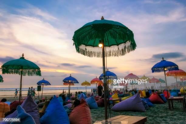 Sunset at Seminyak Beach Bali, Indonesia