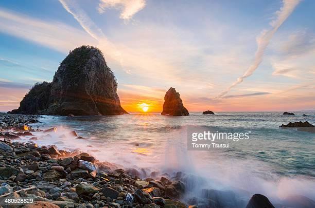 Sunset at Senganmon North-beach