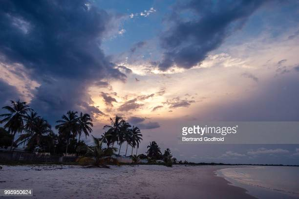 sunset at sogara beach, gabon - gabon stock pictures, royalty-free photos & images