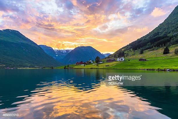 Sunset at Songdal, Norway