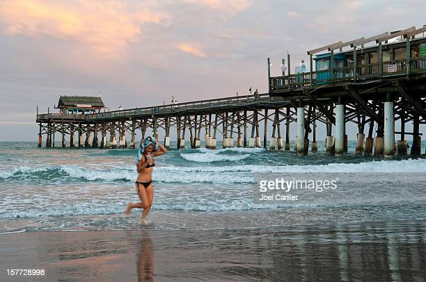 cocoa beach pier - cocoa beach stock pictures, royalty-free photos & images