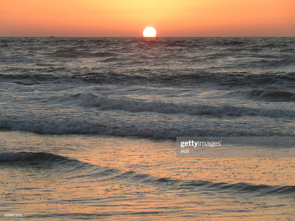 Sunset at the Eastern Mediterranean : Stock Photo