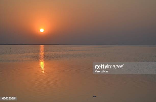 Sunset at the Great Rann of Kutch,Gujarat