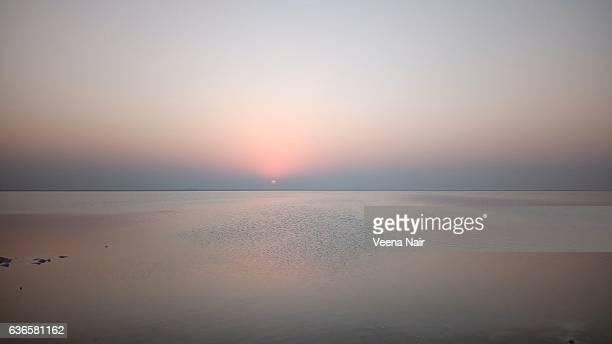 Sunset at the Great  Rann of Kutch-Gujarat