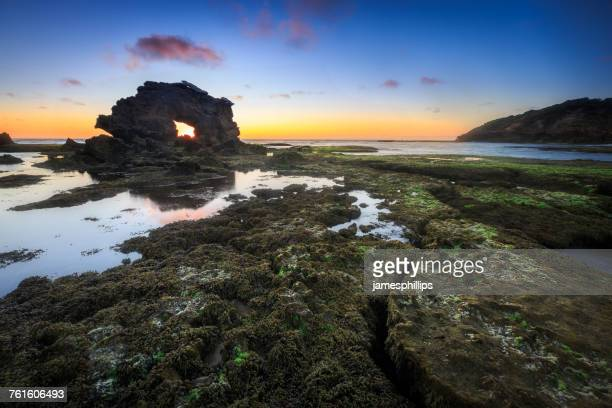 Sunset at the Keyhole, Bridgewater Bay, Victoria, Australia