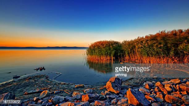Pôr do sol no Lago Balaton