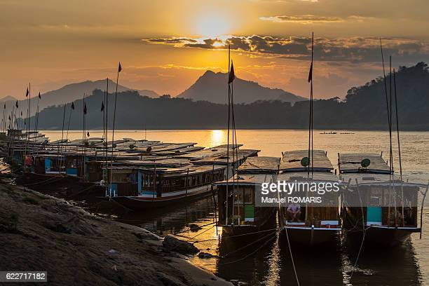 Sunset at the Mekong river