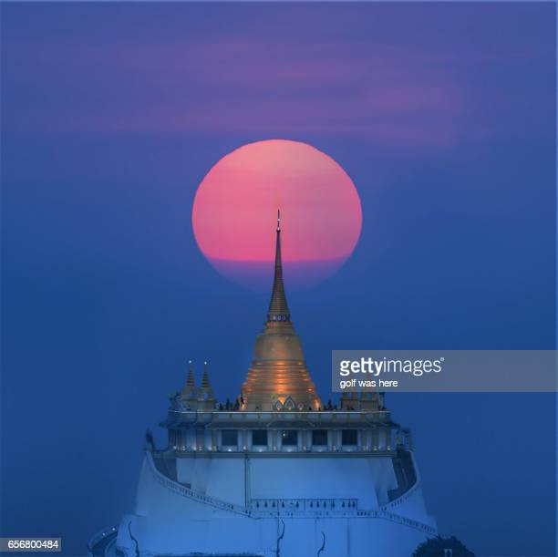 Sunset at the middle of the temple
