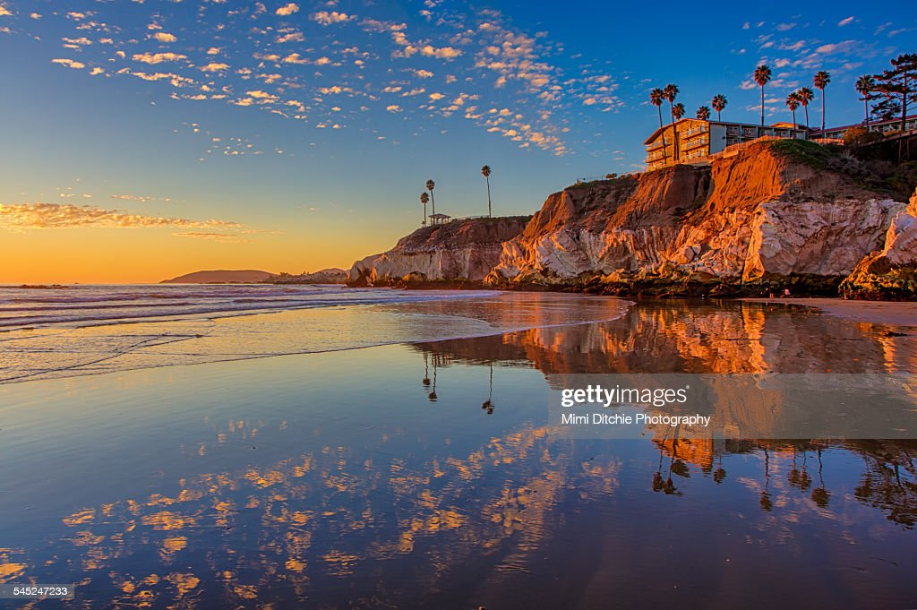 Sunset At The North End Of Pismo Beach : Stock Photo