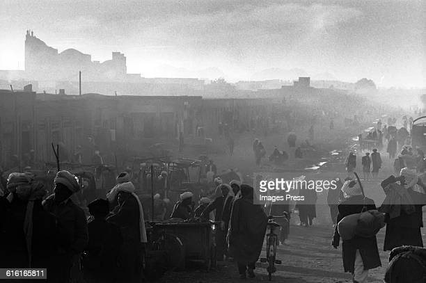 Sunset at the Old Bazaar circa 1985 in Herat Afghanistan