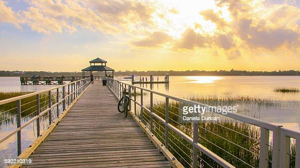 sunset at the pier - template_talk:south_carolina stock pictures, royalty-free photos & images