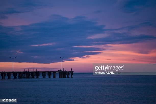sunset at the pier Pulau Weh Banda Aceh Sumatra Indonesia