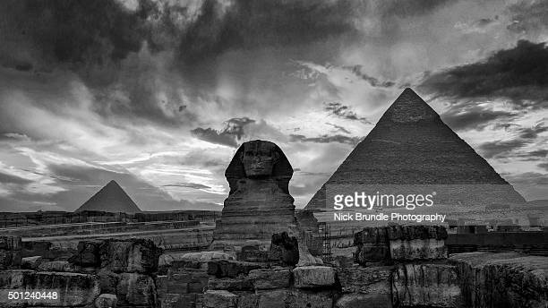 Sunset at the Pyramids and Sphinx, Giza, Egypt