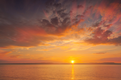 Sunset at the sea - shot in Wexford county, Ireland 874289460