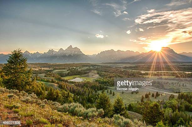 Sunset at the Tetons and Hedrick Pond