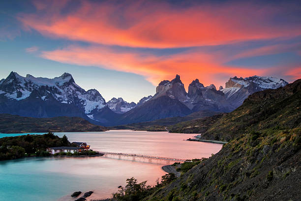Sunset at Torres del Paine