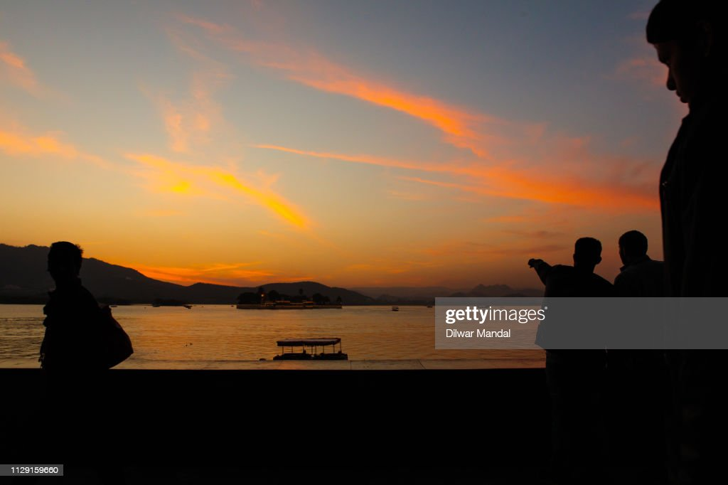 Sunset at Udaipur : Stock Photo