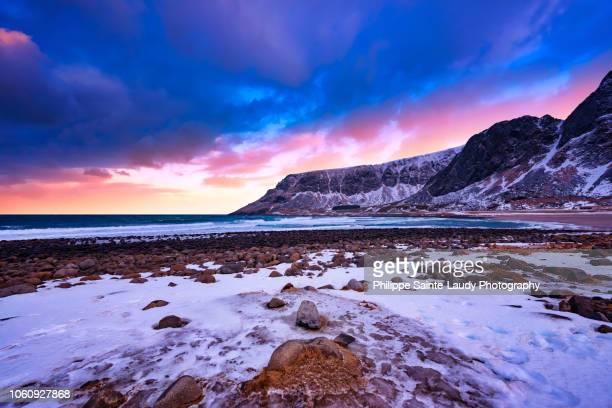 Sunset at Unstad