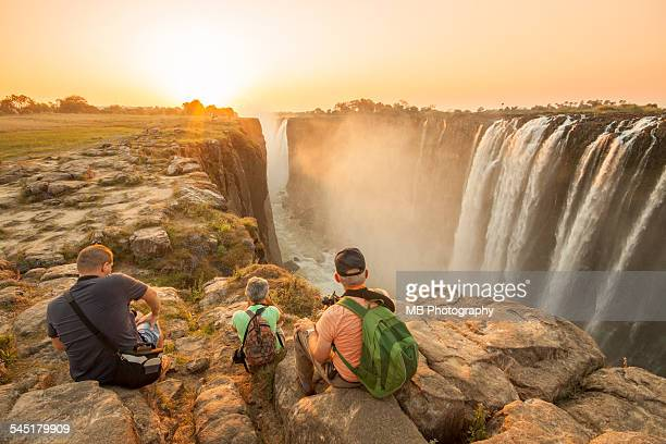 Sunset at Victoria Falls