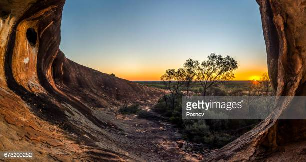 sunset at victoria rock - western australia stock pictures, royalty-free photos & images