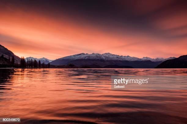 Sunset at Wanaka