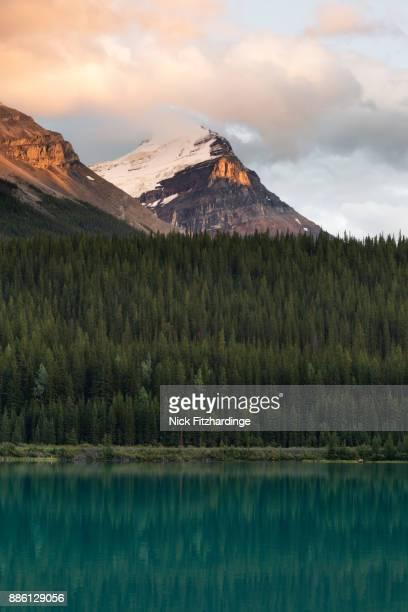 Sunset at Wapta Lake, Yoho National Park, British Columbia, Canada