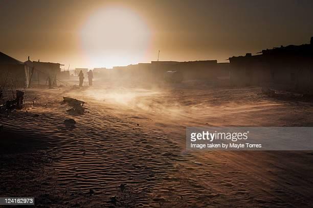Sunset at western sahara
