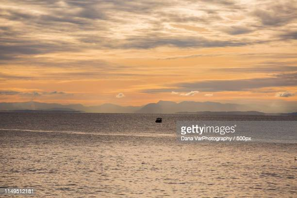sunset at white cliff, vancouver - dana white stock pictures, royalty-free photos & images
