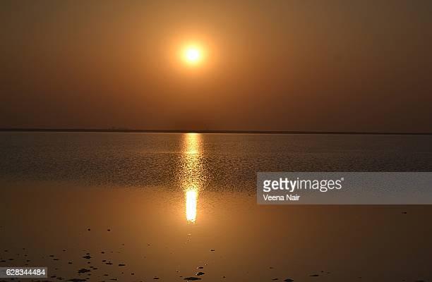 Sunset at white desert-Rann of Kutch-Gujarat