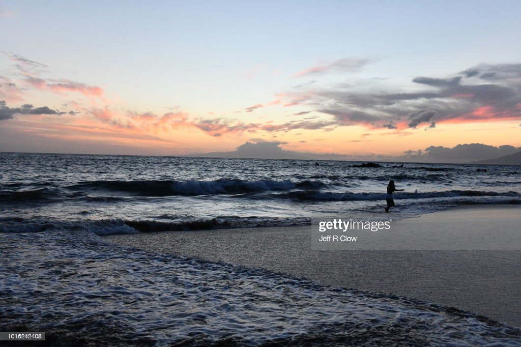 Sunset At White Rock Beach Maui Hawaii