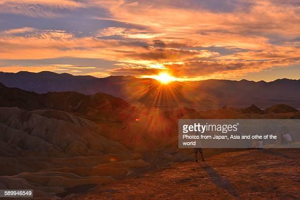Sunset at Zabriskie Point, Death Valley, Calif.