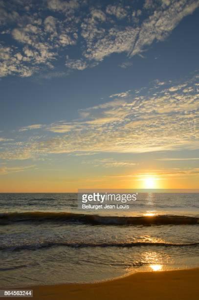 Sunset. Atlantic beach