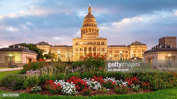 Sunset, Austin State Capitol Building, Austin, Texas, America