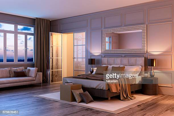 Sunset Bauhaus Bedroom Interior